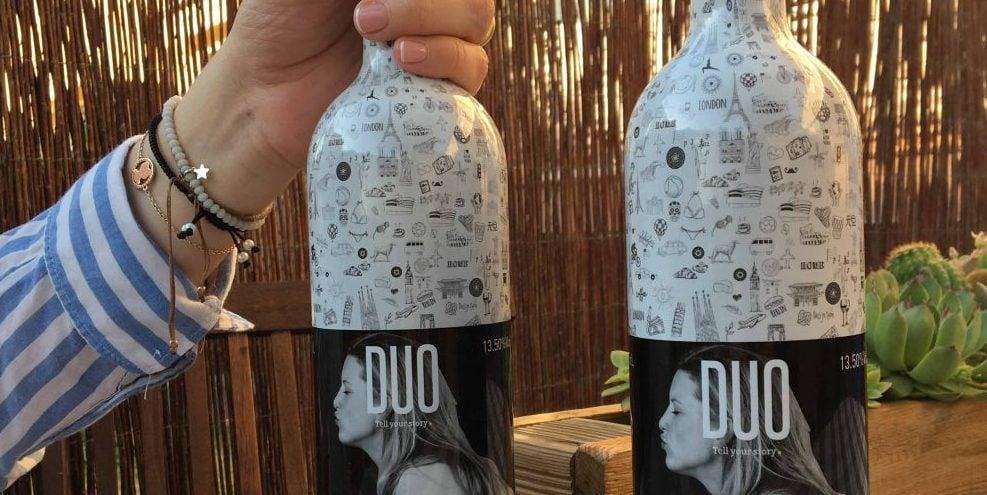 botella vino duo