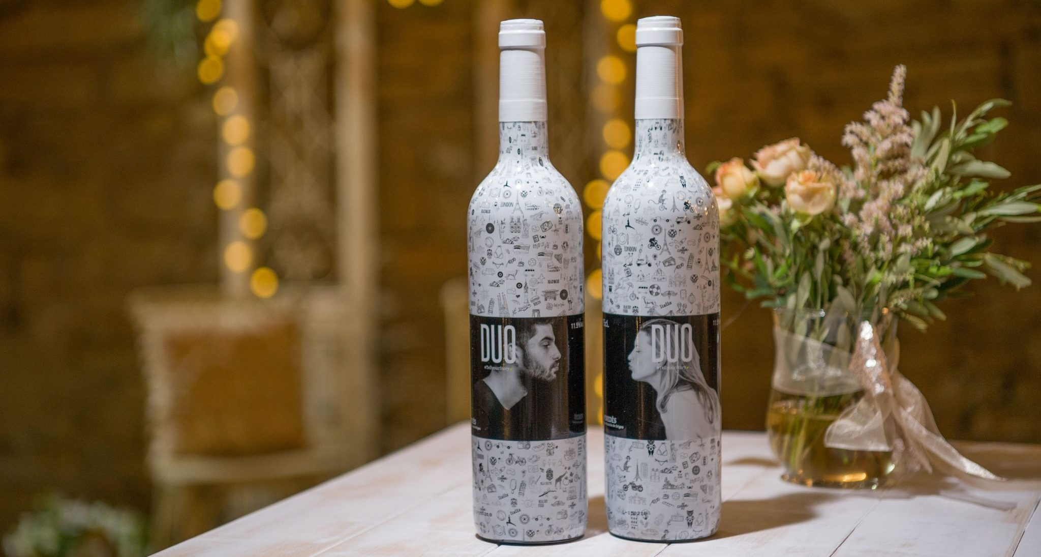 juego en la botella de vino