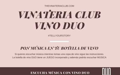 música en la botella de vino