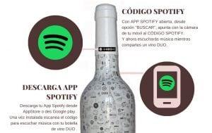 musica botella vino duo