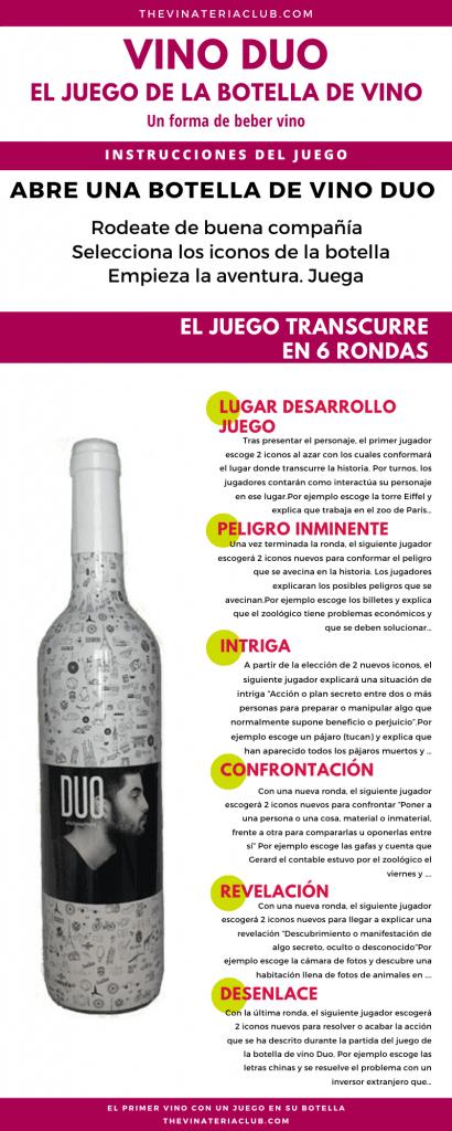 instrucciones juego de la botella de vino rolvino